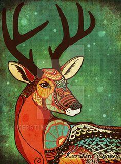 Deer ~ Kerstin Schoene on @DeviantArt