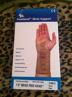 Medspec Freehand Carpal Tunnel Wrist Pain Support 7.5 Right Hand  $18 ebay