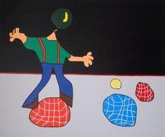 """Saatchi Art Artist Alvaro Raposo; Painting, """"O Malabarista"""" #art"""