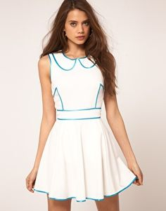 Enlarge ASOS Skater Dress With Contrast Piping