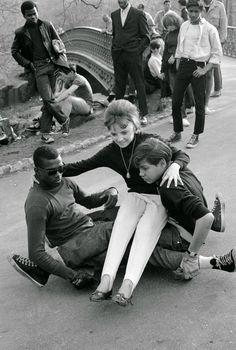 Skateboarding in NYC, 1965.