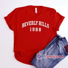 BEVERLY HILLS 1988 T-Shirt - Funny Shirt, Your typical cotton t-shirt (except for heather colors, which contain polyester) Cool T Shirts, Funny Shirts, Vintage Disneyland, Disneyland Resort, Beverly Hills, Sweatshirts, Tees, Sweaters, Women