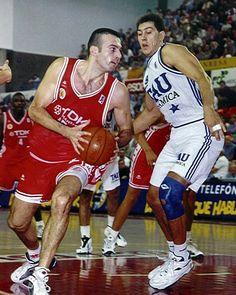 CB Manresa vs Baskonia Vitoria, 97/98, Spanish ACB playoff final. Jordi Singla & Santiago Abad.