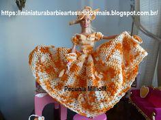 Vestido dA Bela e a Fera em Crochê Para Bonecas com Passo a Passo de Pecunia MillioM 5