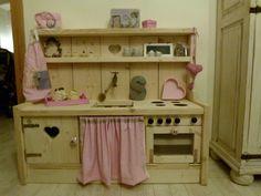 Kinderkeuken steigerhout, landelijk, Maikiki Handmade