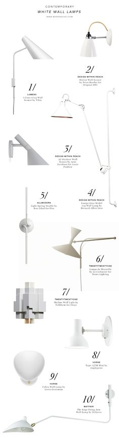 10 best contemporary and modern white wall lamps shopping picks by My Paradissi