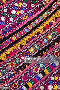View top-quality stock photos of Traditional Indian Handmade Embroidered Fabric. Find premium, high-resolution stock photography at Getty Images. Indian Embroidery, Folk Embroidery, Embroidery Fashion, Hand Embroidery Designs, Embroidery Stitches, Embroidery Patterns, Indian Prints, Indian Textiles, Indian Fabric