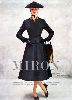 Nina de Voogt wearing the Ranone suit by Miron, myvintagevogue