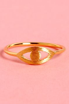 Vision Quest Gold Eye Ring at LuLus.com! #lulusrocktheroad