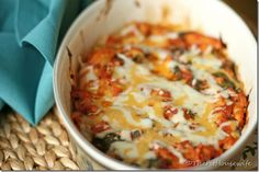 Skinny Chicken and Spinach w spaghetti squash Bake - kids ate it, was easy to make, and healthy.