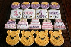 Pooh Cookies for  1st birthday. by navygreen, via Flickr