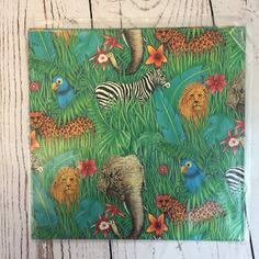 Gift Wrap Sheets Safari African Animals by by ThisistheLifeCollect