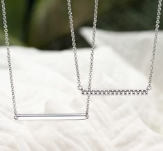Love these bar pendants from Brilliant Earth
