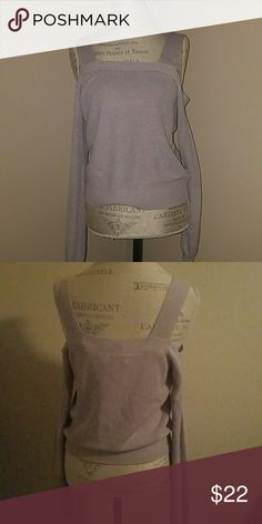 BRAND NEW! Gorgeous knitted cold shoulder long sleeve blouse. Perfect for this season.color is lavender.  Brand new with tags. pac sun Tops Blouses