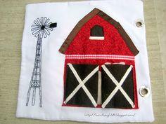 Adorable barn quiet book page