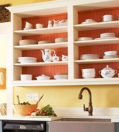 Diy Open Kitchen Cabinets chic kitchen pantry features white shaker cabinets fitted with