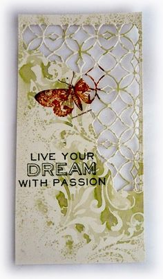 Bumblebees and Butterflies: Live Your Dream With Passion mixed media thinlits background