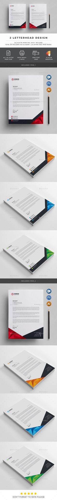 #Letterhead - #Stationery Print #Templates Download here:  https://graphicriver.net/item/letterhead/19497443?ref=alena994