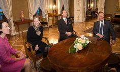 twitter-british monarchy: Visit to Finland, February 2, 2015-The Earl and Countess of Wessex with Finnish President Sauli Niinistö and First Lady Jenni Haukio