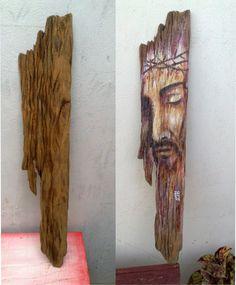Tinta acrílica em madeira de demolição