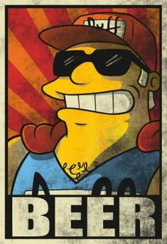 Duffman Aufn/äher Patch Duff Beer Moes Taverne Barney The Simpsons VINTAGE