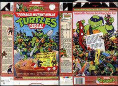 Ralston - Teenage Mutant Ninja Turtles - Turtles Toys - cereal box - 1990 by JasonLiebig, via Flickr