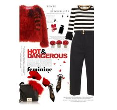 """""""STRIPES"""" by amimcqueen ❤ liked on Polyvore featuring Givenchy, The French Bee, Valentino, Narciso Rodriguez, Kate Spade, Gucci, Dolce&Gabbana and Aquazzura"""