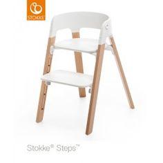 Chaise haute STEPS™ pieds en chêne