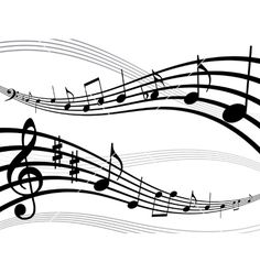 Musical notes that could look like scroll work for a cake