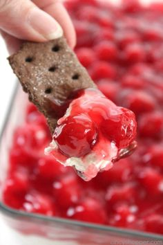 Cherry Cheesecake Dip | This sounds amazing, though I fear I would eat the whole thing on my own!