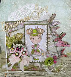 Something Beautiful By Julie: My First Card for the Paper Nest Dolls Main Blog