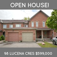 *OPEN HOUSE* today from 2-4P.M. at 98 Lucena Crescent in Maple. This townhouse is listed at $599,000 this is currently the cheapest house on the market in all of Vaughan! Come take a look today!