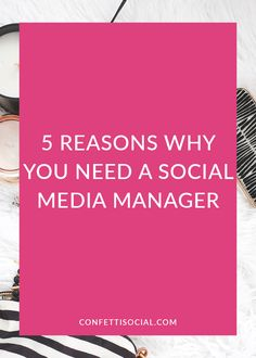 A social media manager can help you get your social media game up to par and free up time in your business. Find out 5 reasons why your business needs a social media manager.