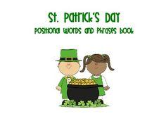 St. Patrick's Day Positional Words Book - Kayla Coffman - TeachersPayTeachers.com