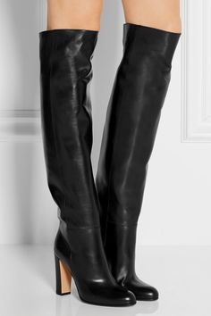 Gianvito Rossi   Leather over-the-knee boots   NET-A-PORTER.COM