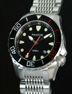 Pantor Seahorse diver watch 1000m - Pantor Watches