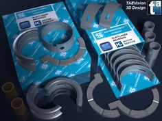 136 - Ref. KSBearings :: 3D Scene - KS Kolbenschmidt Gleitlager / Engine Bearings... MS Motor Service International GmbH - #enginebearings #automotive #parts #repair