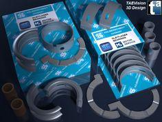 136 - Ref. KSBearings :: 3D Scene - KS Kolbenschmidt Gleitlager / Engine Bearings... MS Motor Service International GmbH - #enginebearings #automotive #parts #repair