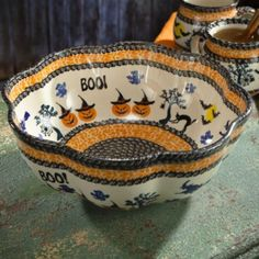 Halloween Polish Pottery Bowl