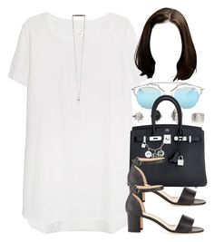 """""""Style #8847"""" by vany-alvarado ❤ liked on Polyvore featuring by TiMo, Christian Dior, Hermès and Manolo Blahnik"""