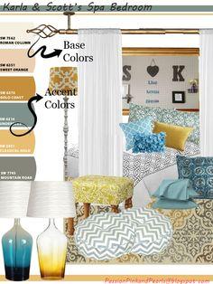 Spa Oasis Bedroom Concept Board
