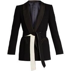 Blazé Milano Midnight Smoking Cool and Easy wool blazer (80.430 RUB) ❤ liked on Polyvore featuring outerwear, jackets, blazers, blazer, black, wool jacket, shawl jacket, woolen shawl, woolen jacket and blazer jacket