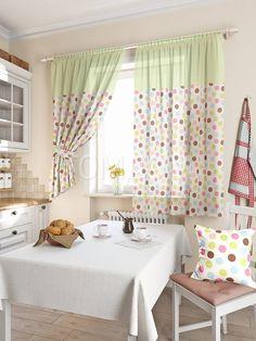 """Комплект штор """"Вилхас (зелен.)"""": купить комплект штор в интернет-магазине ТОМДОМ #томдом #curtains #шторы #interior #дизайнинтерьера"""