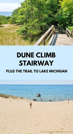 michigan beach, great lakes. hiking trail. hikes. michigan road trip, summer vacation. michigan things to do near muskegon mi. midwest summer vacation Michigan Vacations, Michigan Travel, Lake Michigan, Us Travel Destinations, The Dunes, Great Lakes, Hiking Trails, State Parks, Road Trip