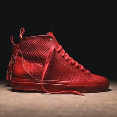 ALFA HIGH RED SNAKE Available now exclusively at KITH Manhattan and Kithnyc.com #androidhomme  #madeinitaly