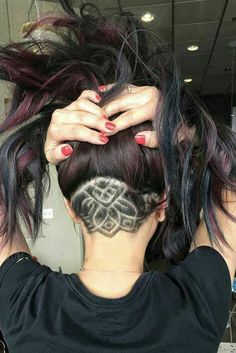 Under haircut style - women hairstyle