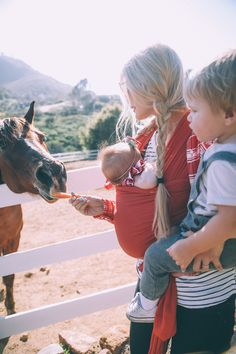 Feeding Horsies - Barefoot Blonde by Amber Fillerup Clark