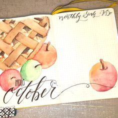 Hello October Welcome Page spread with monthly goals and to do