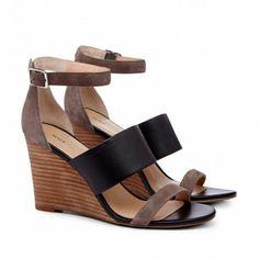 Colorblock Wedge Sandals.