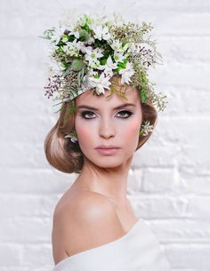 Avant garde high fashion flower crown | Photography: Jessica Tiffany | Floral Design: The Arrangement Floral Design | Makeup and Hair: Erica Martell